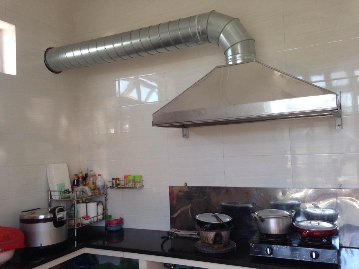 vệ sinh ống gió, giàn bếp